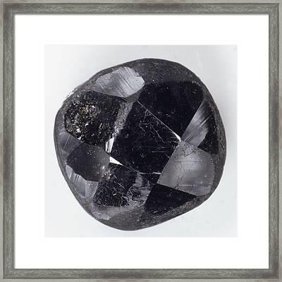 Faceted Bort Diamond Framed Print