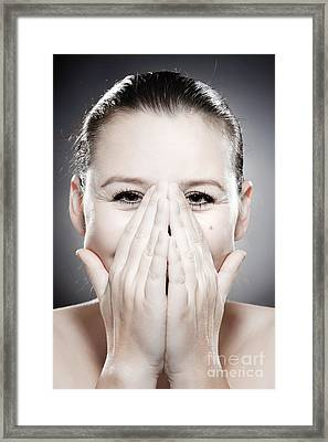Facial Expression - Bashful Framed Print by Wolfgang Steiner