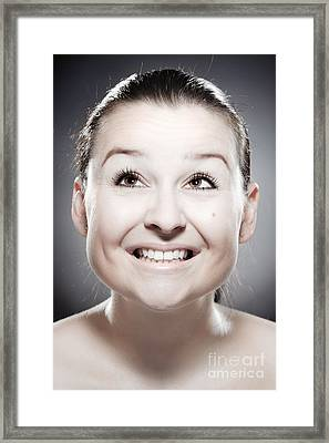 Facial Expression Framed Print