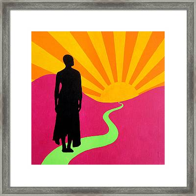 Facing East - A New Dawn Framed Print by Oliver Johnston