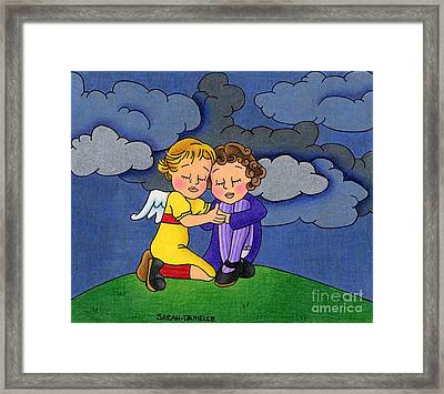 Facing It Together Framed Print by Sarah Batalka