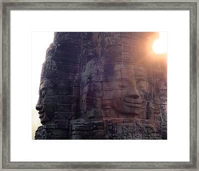 Facing Sunrise Framed Print by Lauren Rathvon