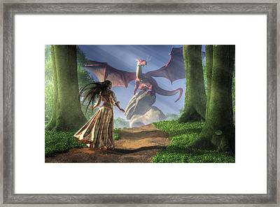 Facing The Red Dragon Framed Print