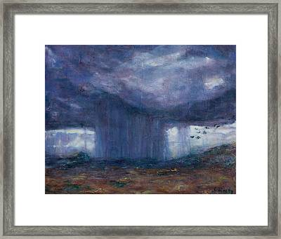 Framed Print featuring the mixed media Facing The Storm by Carla Woody