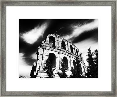 Facing Time Framed Print by Dhouib Skander