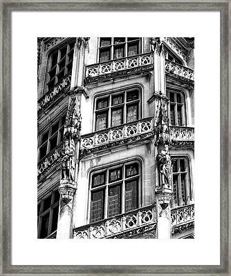 Facing Windows Biltmore Nc Framed Print by William Dey