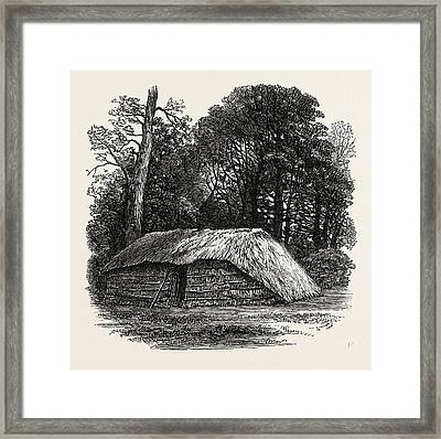 Facsimile Of The Hut Built For Dr. Livingstone To Die Framed Print by English School