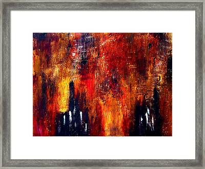 Factories Of Avalon Framed Print by Guillermo De Llera