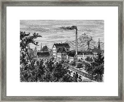 Factory And Paper Mill Framed Print