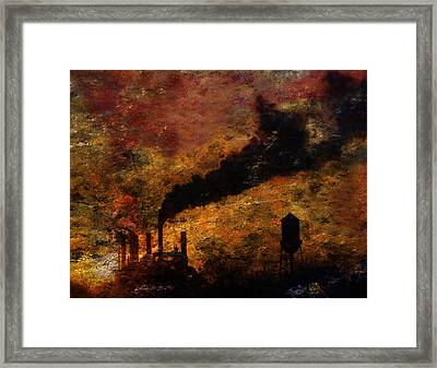 Framed Print featuring the digital art Factory by Bruce Rolff