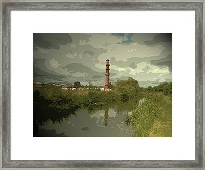 Factory Chimney By The Erewash Canal, Another Piece Framed Print