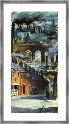 Factory Chimneys Framed Print by Andrew Howat