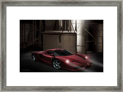 Factory Ferrari Framed Print by Peter Chilelli