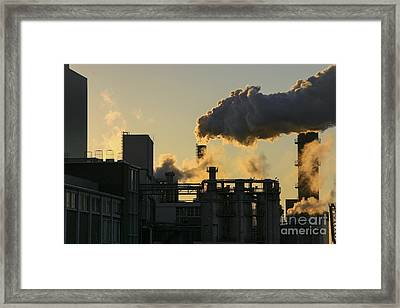 Factory Fumes Framed Print by Patricia Hofmeester