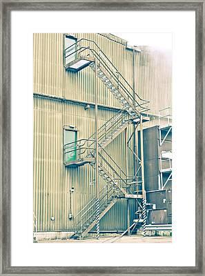 Factory Steps Framed Print by Tom Gowanlock
