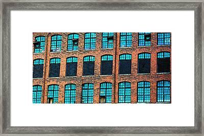 Factory Windows Framed Print