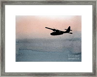 Fade Into Nothingness Pby Over Empty Sea Framed Print
