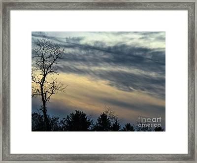 Fade To Black Framed Print