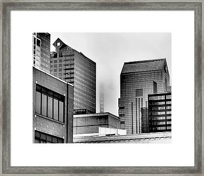 Fade To Grey Framed Print by Rona Black