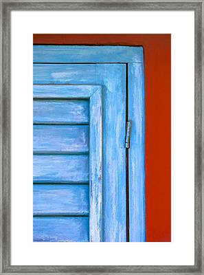Faded Blue Shutter IIi Framed Print