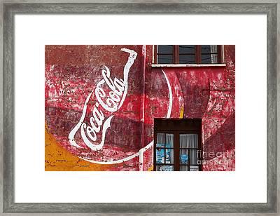 Faded Coca Cola Mural 1 Framed Print by James Brunker