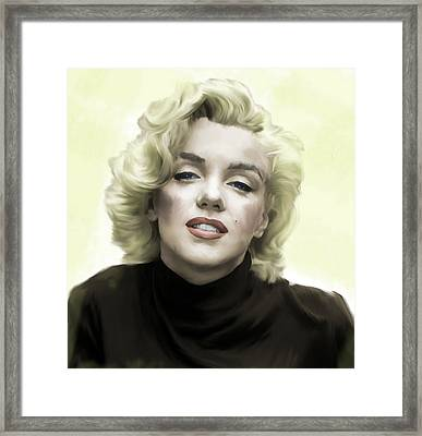 Faded Dream Marilyn Monroe Framed Print by Iconic Images Art Gallery David Pucciarelli
