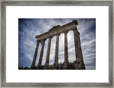 Faded Glory Of Rome Framed Print by Joan Carroll