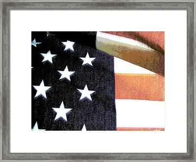 Faded Glory Framed Print by Rebecca Flaig