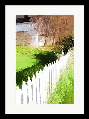 Pioneer Homes Digital Art Framed Prints