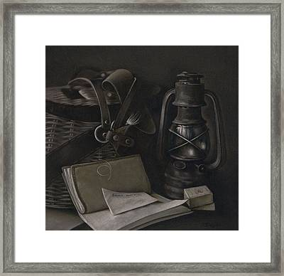 Faded Memories - Drawing Framed Print