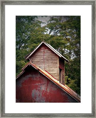 Faded Paint Framed Print by Cassie Peters