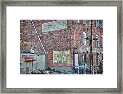 Framed Print featuring the photograph Faded Signs by Linda Brown