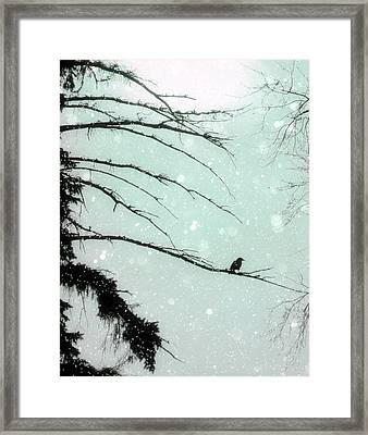 Abstract Faded Winter Framed Print by Gothicrow Images