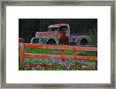 Fading Away Framed Print