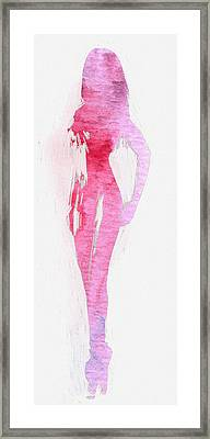 Fading Beauty Framed Print
