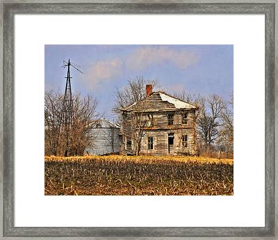 Fading Farm Framed Print by Marty Koch