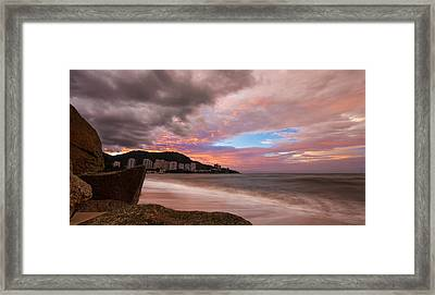 Fading Into The Clouds Framed Print by Mario Legaspi