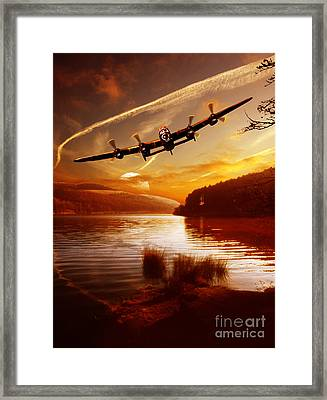 Fading Light At Derwent Framed Print by Nigel Hatton