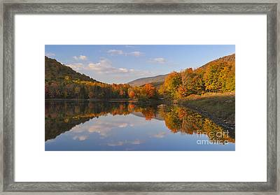 Fading Light On Searsburg Reservoir Framed Print