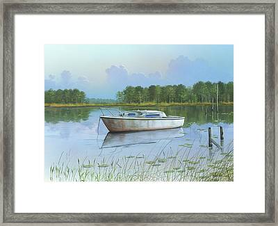 Framed Print featuring the painting Fading Memories by Mike Brown