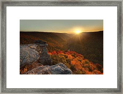 Fading Moments Framed Print