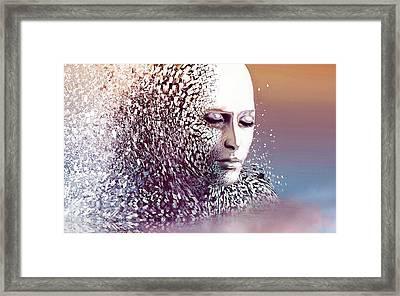 Fading Framed Print
