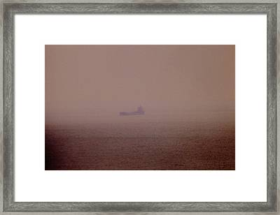 Fading Spector Of The Straits Framed Print