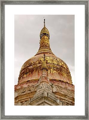 Fading Stupa Gilding Of Small Monastery Near West Pwazaw Village Bagan Burma Framed Print by PIXELS  XPOSED Ralph A Ledergerber Photography
