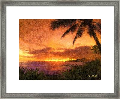 Fading Sunset Framed Print by Wayne Pascall