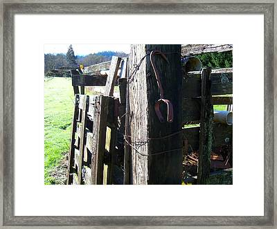 Fading Through Time Framed Print