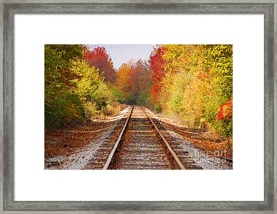 Fading Tracks Framed Print