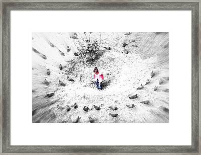 Fading Universe Framed Print by Roozbeh Roostaei
