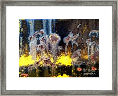 Fae And Fireworks Abstract Framed Print by Lee Craig