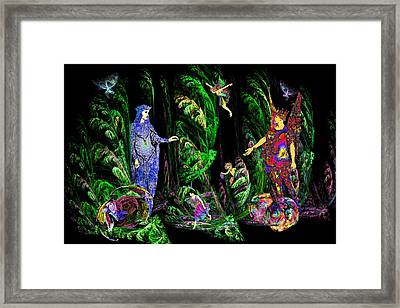 Faery Forest Framed Print by Lisa Yount